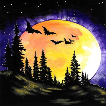 Canvas Painting Class on 10/31 at Muse Paintbar Lynnfield
