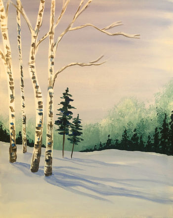 Canvas Painting Class on 03/09 at Muse Paintbar Portland