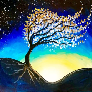 Canvas Painting Class on 03/18 at Muse Paintbar Lynnfield