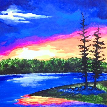 Canvas Painting Class on 11/13 at Muse Paintbar Norwalk