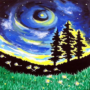 Canvas Painting Class on 04/27 at Muse Paintbar Richmond