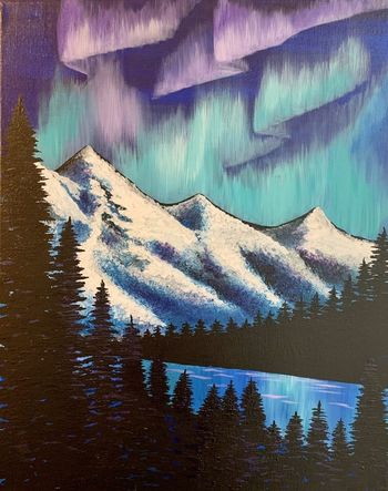 Canvas Painting Class on 01/18 at Muse Paintbar Glastonbury
