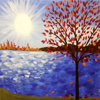 Canvas Painting Class on 11/04 at Muse Paintbar NYC - Tribeca