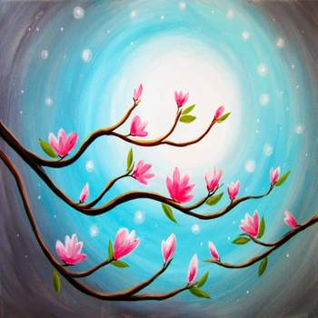 Canvas Painting Class on 04/03 at Muse Paintbar Portland