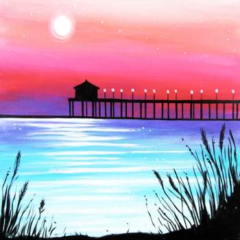 Canvas Painting Class on 06/08 at Muse Paintbar Lynnfield