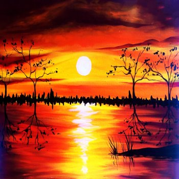 Canvas Painting Class on 11/09 at Muse Paintbar Lynnfield