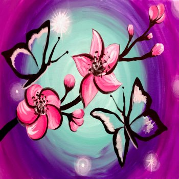 Canvas Painting Class on 02/24 at Muse Paintbar Glastonbury
