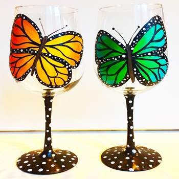 Glassware Painting Event on 04/28 at Muse Paintbar Lynnfield
