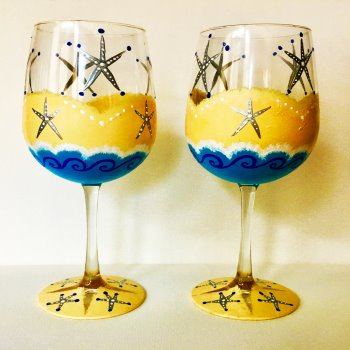 Glassware Painting Event on 07/30 at Muse Paintbar Patriot Place