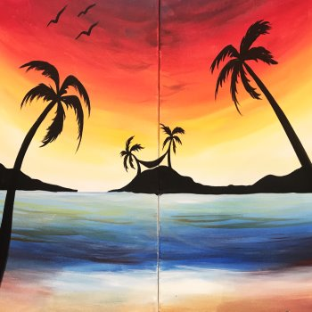 Couple's Paint Night on 07/20 at Muse Paintbar Patriot Place