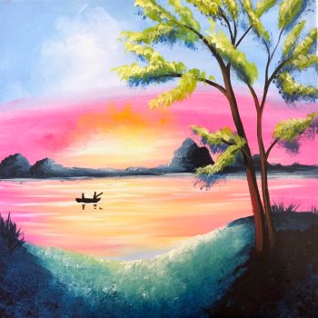 Canvas Painting Class on 04/09 at Muse Paintbar Portland