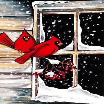 Cardinal Couple - Muse Paintbar