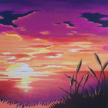 Canvas Painting Class on 07/16 at Muse Paintbar Gaithersburg