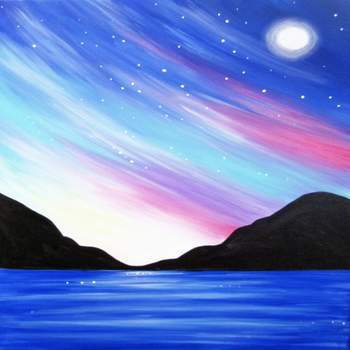 Canvas Painting Class on 02/07 at Muse Paintbar Woodbridge