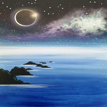 Canvas Painting Class on 03/09 at Muse Paintbar Glastonbury