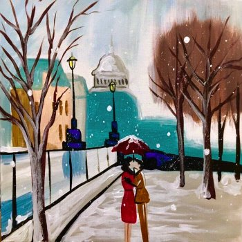 Paint Your Masterpiece on 12/22 at Muse Paintbar Patriot Place