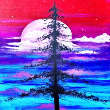 Canvas Painting Class on 12/14 at Muse Paintbar Fairfax (Mosaic)