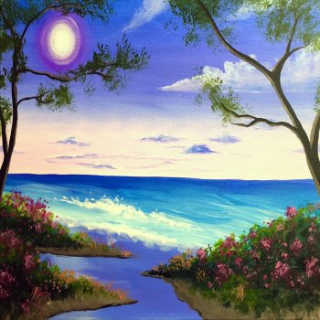 Canvas Painting Class on 07/06 at Muse Paintbar Gaithersburg