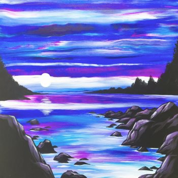 Canvas Painting Class on 07/21 at Muse Paintbar Patriot Place
