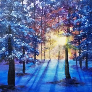 Canvas Painting Class on 02/26 at Muse Paintbar Patriot Place