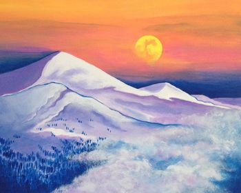 Canvas Painting Class on 12/27 at Muse Paintbar Woodbridge