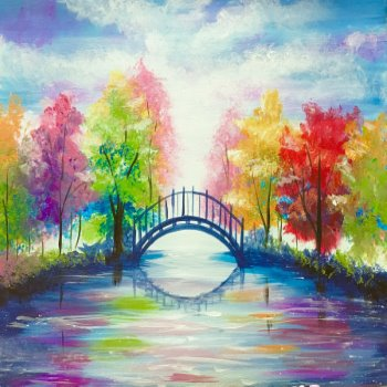 Canvas Painting Class on 11/21 at Muse Paintbar Ridge Hill