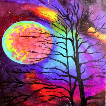 Canvas Painting Class on 10/28 at Muse Paintbar Patriot Place