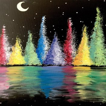 Colorful Trees - Muse Paintbar