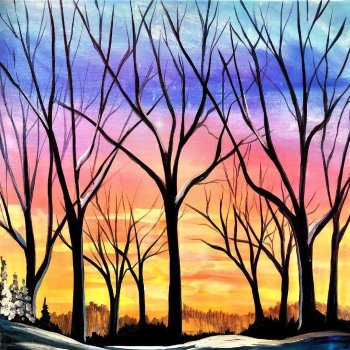 Canvas Painting Class on 02/06 at Muse Paintbar Portland