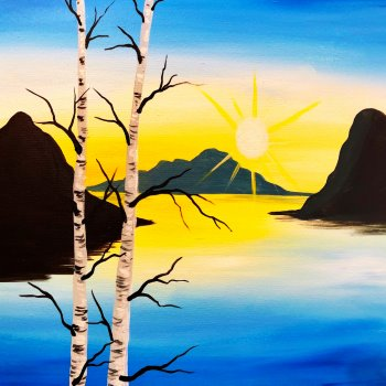 Canvas Painting Class on 04/02 at Muse Paintbar Manchester