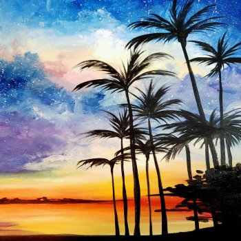 Canvas Painting Class on 08/22 at Muse Paintbar Norwalk