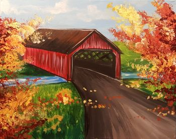 Canvas Painting Class on 11/24 at Muse Paintbar Portland