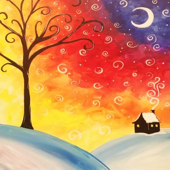 Canvas Painting Class on 01/20 at Muse Paintbar NYC - Tribeca