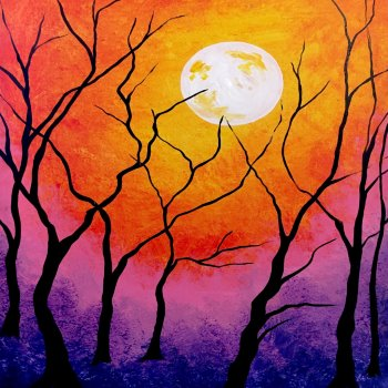 Canvas Painting Class on 10/12 at Muse Paintbar Gaithersburg