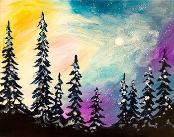 Canvas Painting Class on 01/21 at Muse Paintbar Norwalk