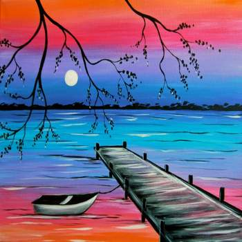 Canvas Painting Class on 06/04 at Muse Paintbar Norwalk
