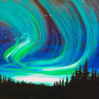 Canvas Painting Class on 04/08 at Muse Paintbar Portland