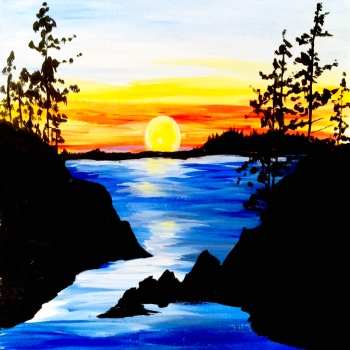Canvas Painting Class on 01/04 at Muse Paintbar Patriot Place