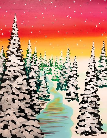 Canvas Painting Class on 02/22 at Muse Paintbar Gaithersburg