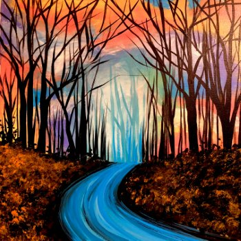 Canvas Painting Class on 10/13 at Muse Paintbar Patriot Place