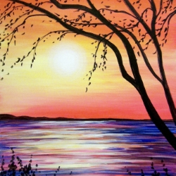 Canvas Painting Class on 08/24 at Muse Paintbar Norwalk