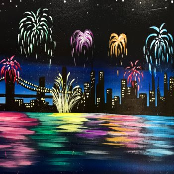 Canvas Painting Class on 12/31 at Muse Paintbar NYC - Tribeca