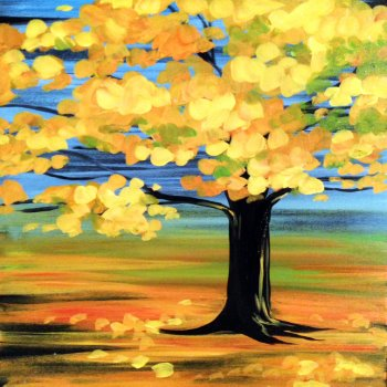 Canvas Painting Class on 10/10 at Muse Paintbar Fairfax (Mosaic)