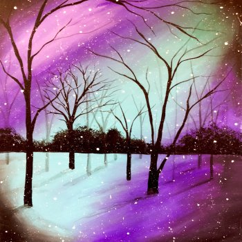 Canvas Painting Class on 12/27 at Muse Paintbar Woodbury