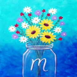 Canvas Painting Class on 05/11 at Muse Paintbar Fairfax (Mosaic)