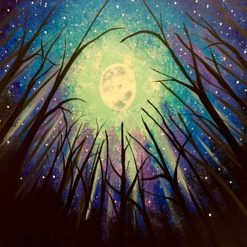 Canvas Painting Class on 10/02 at Muse Paintbar Glastonbury