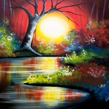 Canvas Painting Class on 05/01 at Muse Paintbar Glastonbury