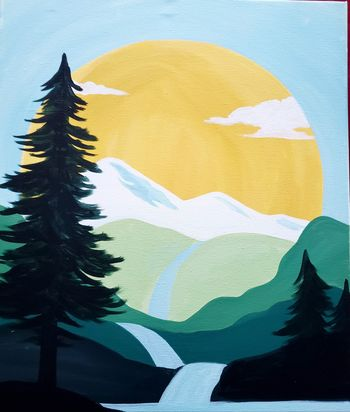 Canvas Painting Class on 02/04 at Muse Paintbar Lynnfield