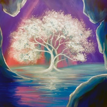 Canvas Painting Class on 07/09 at Muse Paintbar Fairfax (Mosaic)