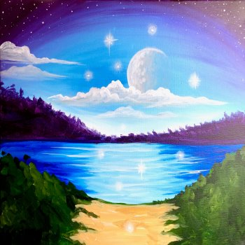 Canvas Painting Class on 06/08 at Muse Paintbar Owings Mills